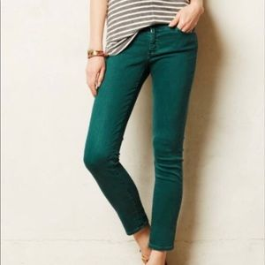 AG Stevie Slim Straight Green jeans